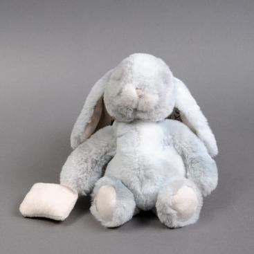 Мягкая игрушка спящий зайка 25см