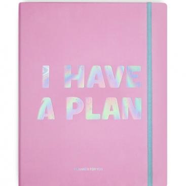 Блокнот I have a plan розовий