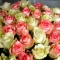 Букет 51 роза Джумилия и Аваланч - Фото 3