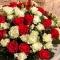 Букет из 51 розы Эль Торо и Сноу Флейк - Фото 3