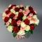 Букет из 51 розы микс - Фото 2