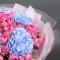 Букет с гортензией и розой Мисти Бабблз - Фото 5