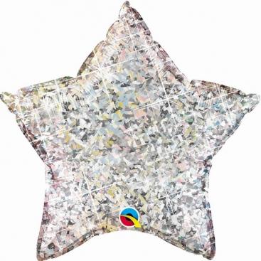 Шар Звезда серебряная 51 см