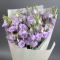Букет фиолетовых эустом - Фото 3