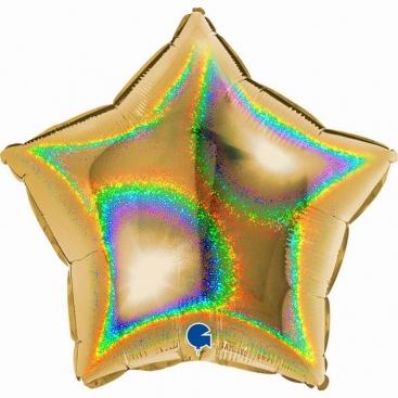 Шар Звезда золотая 48 см