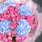 Букет с гортензией и розой Мисти Бабблз - Фото 4
