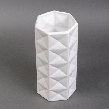 Ваза керамическая белая глянцевая