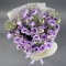Букет фиолетовых эустом - Фото 5
