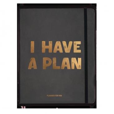 Блокнот I have a plan черный