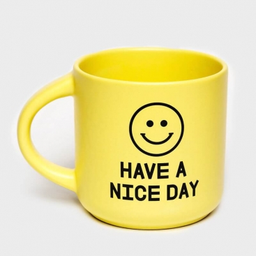 Yellow cup Have a nice day