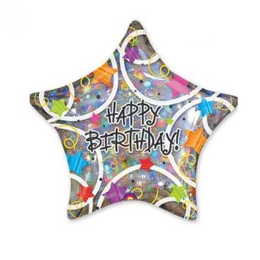 Шар Звезда С Днём Рождения 46 см