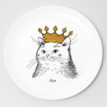 Plate Cat in the crown