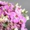 Композиция розы с орхидеями в бархатной коробке - Фото 4