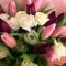 Букет тюльпанов и эустом Мулен Руж - Фото 2