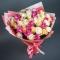Букет из 51 розы Калейдоскоп - Фото 1