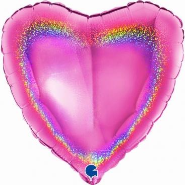 Шар Сердце розовое 46 см