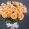 Букет из 25 роз Пич Аваланч  - Фото 3