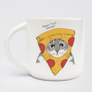 Чашка Кот в пицце