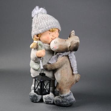 Фигурка девочка с оленем
