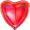 Шар Сердце красное блестящее