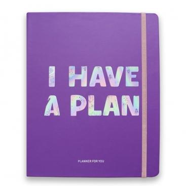 Блокнот I have a plan фиолетовый
