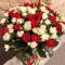 Букет из 51 розы Эль Торо и Сноу Флейк - Фото 2
