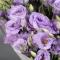 Букет фиолетовых эустом - Фото 4
