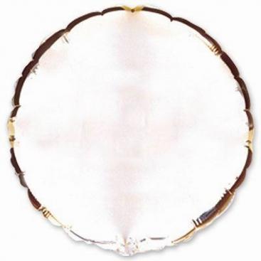 Шар круглый серебряный 81 см