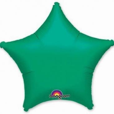 Шар Звезда зеленая с оттенком металлик 48 см
