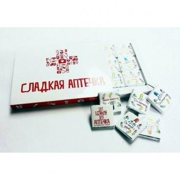 Шоколадный набор Сладкая аптечка (12 плиток)