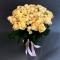 Букет из 51 розы Пич Аваланч и Елена спрей - Фото 2