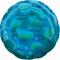 Шар круглый голубой блестящий 46 см