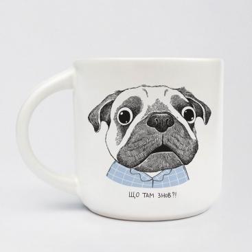 Чашка Удивленный мопс