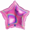 Шар звезда фуксия блестящая 46 см