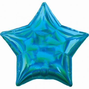 Шар Звезда голубая 48 см