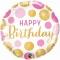 Шар круглый Happy Birthday 46 см