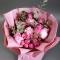 Пионы с розой Мисти Бабблз - Фото 3