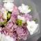 Букет роз Мемори Лейн и фрезия Лиловая дымка - Фото 4