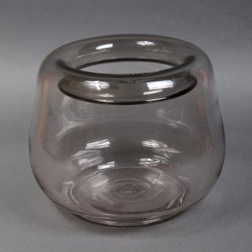 Ваза стеклянная бочка 40х50см