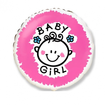 Шар розовый Baby girl 46 см