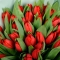 Букет из 45 красных тюльпанов  - Фото 4