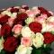 Букет из 51 розы микс - Фото 3