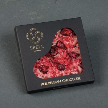 Belgian white chocolate with dried berries